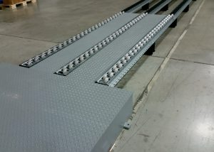 Pallet Flow Ramp with Diamond Plate