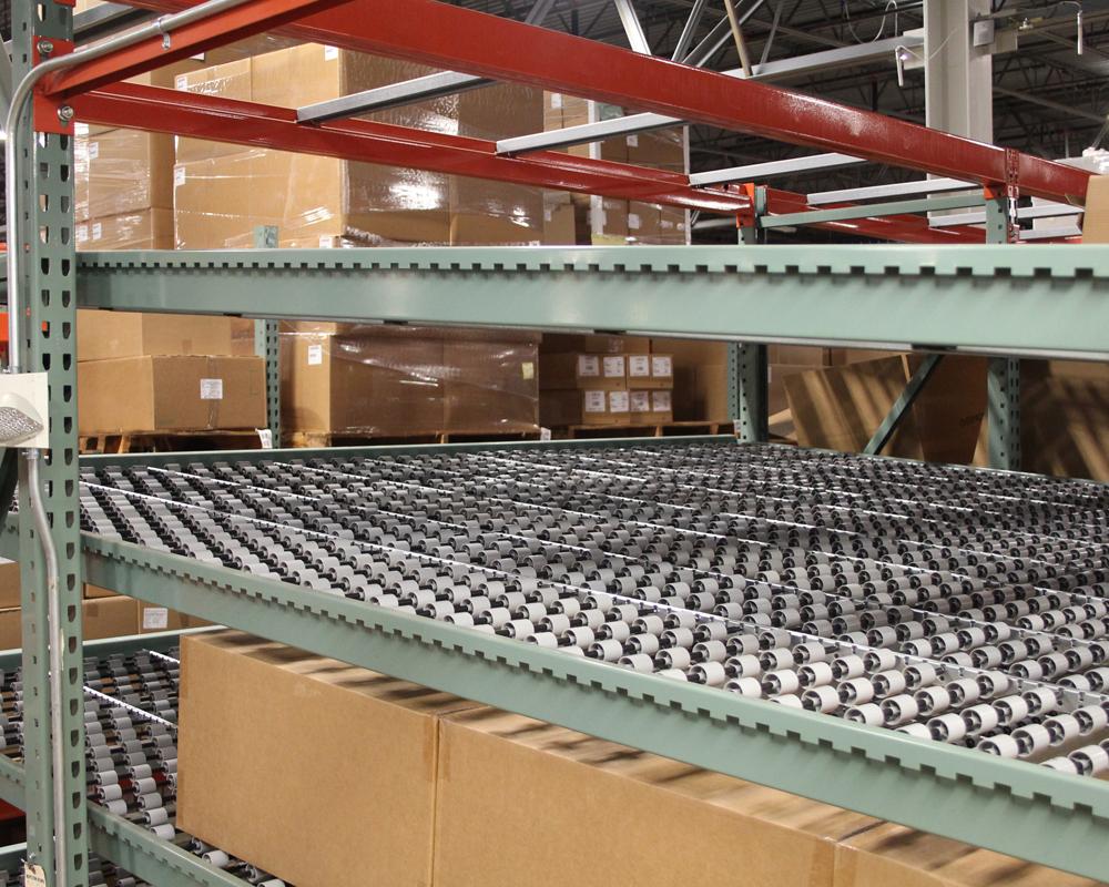 D2 Side View Sloped Shelves