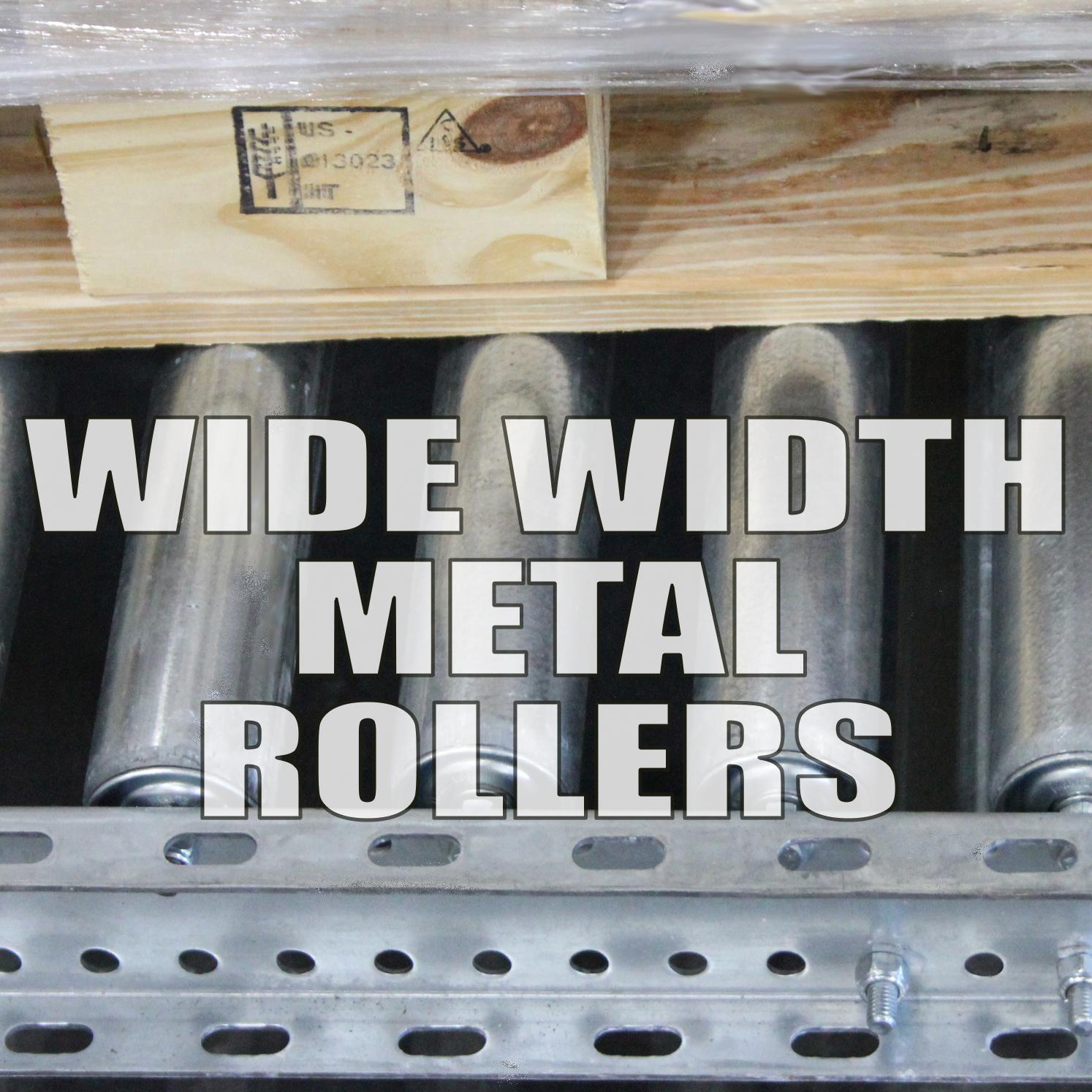 Steel Wide-Roller Pallet Flow
