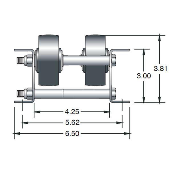 Double Brake Wheel Pallet Flow