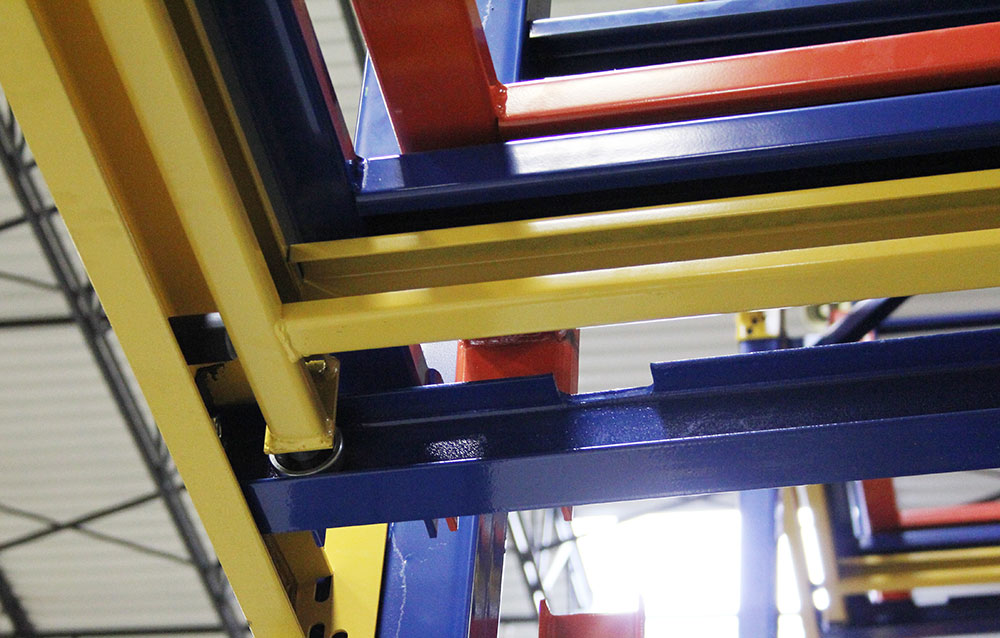 Push Back Rack Wheel and rail