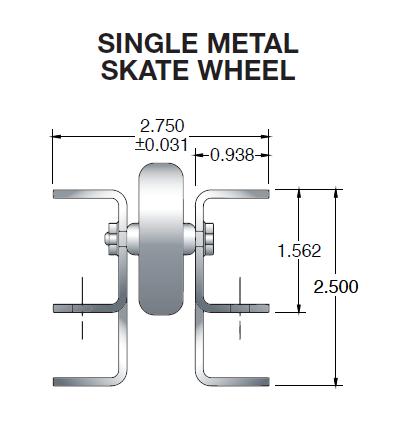 Pallet Flow Skate Wheel Dimensions
