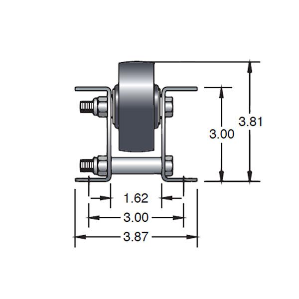 Single Wheel Plastic Pallet Flow Dimensions