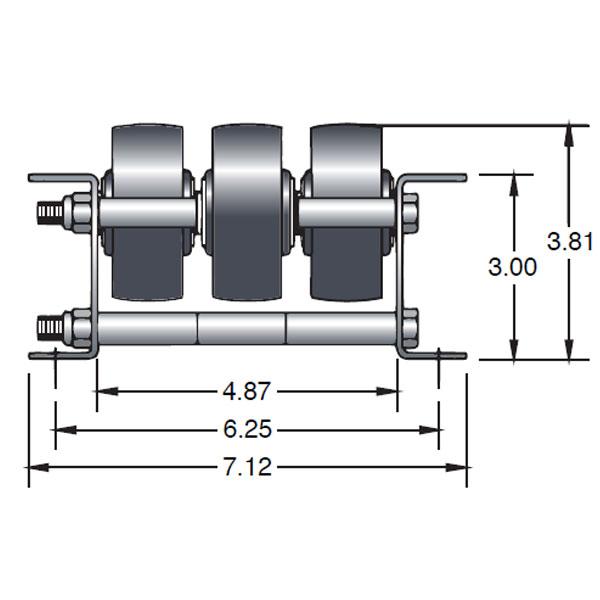 Triple Plastic Wheel Pallet Flow