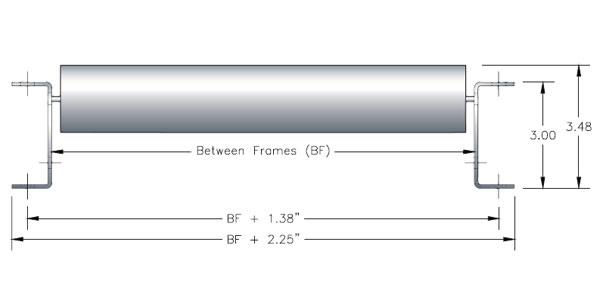 Wide Roller Pallet Flow Dimensions