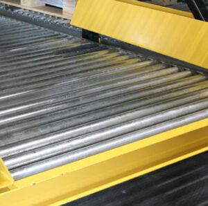 Wide Metal Roller Pallet Flow